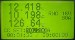 放電電流値表示(10.2A)