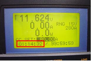 放電時間 1時間14分32秒
